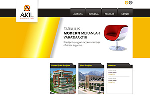 Akil Anadolu Yapı Web Sitesi