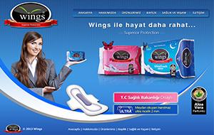 Wings Hijyenik Ped Web Sitesi